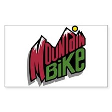 Mountain Bike 2 Rectangle Decal