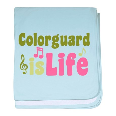Colorguard is Life baby blanket