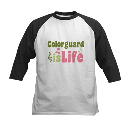 Colorguard is Life Kids Baseball Jersey