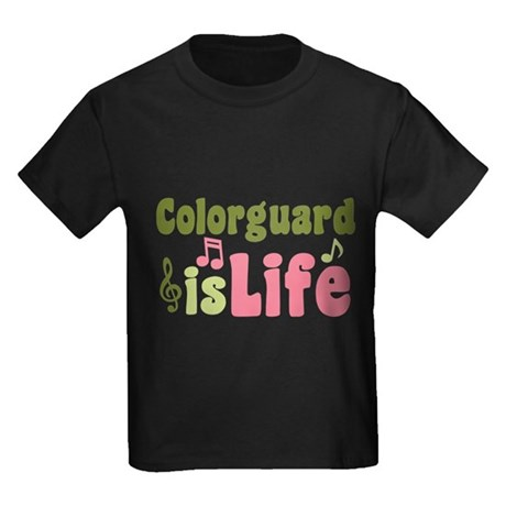 Colorguard is Life Kids Dark T-Shirt