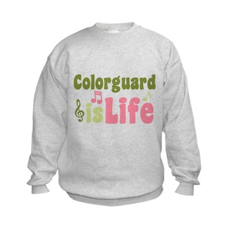 Colorguard is Life Kids Sweatshirt