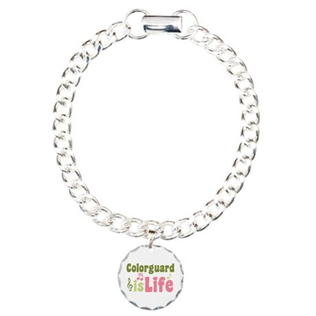 Colorguard is Life Charm Bracelet, One Charm