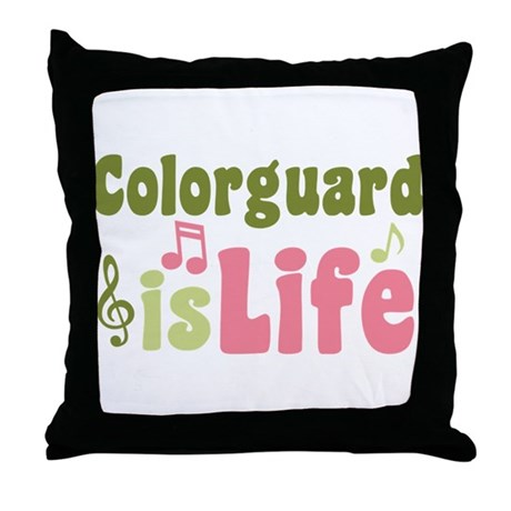 Colorguard is Life Throw Pillow