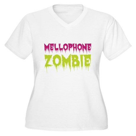 Mellophone Zombie Women's Plus Size V-Neck T-Shirt