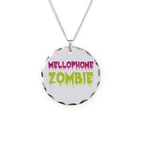 Mellophone Zombie Necklace Circle Charm