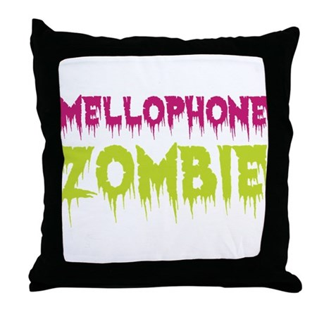 Mellophone Zombie Throw Pillow