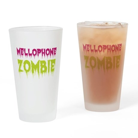 Mellophone Zombie Drinking Glass