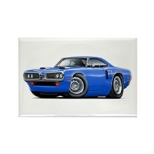 1970 Coronet Blue Car Rectangle Magnet