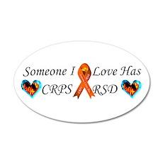 Someone I Love Has CRPS RSD F 22x14 Oval Wall Peel