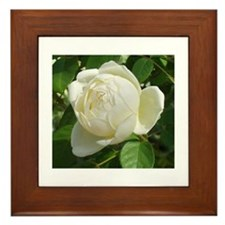 White Rose Framed Tile