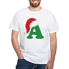 Christmas Letter A Alphabet Shirt