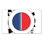 Cars Round Logo Blank Sticker (Rectangle 50 pk)