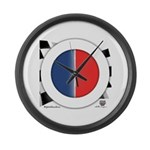 Cars Round Logo Blank Large Wall Clock