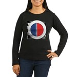 Cars Round Logo Blank Women's Long Sleeve Dark T-S