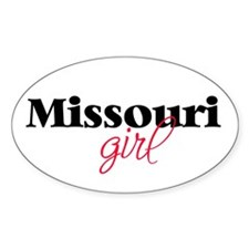 Missouri girl (2) Oval Decal