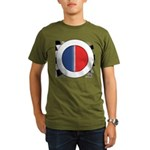 Cars Round Logo Blank Organic Men's T-Shirt (dark)