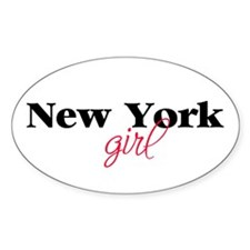 New York girl (2) Oval Decal