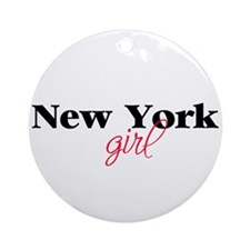 New York girl (2) Ornament (Round)