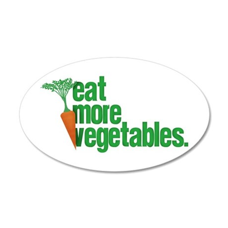 Eat More Vegetables 22x14 Oval Wall Peel