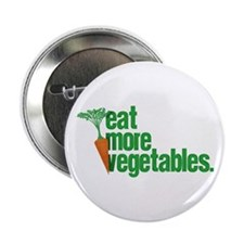 "Eat More Vegetables 2.25"" Button"