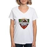 Turkey Bowl Women's V-Neck T-Shirt