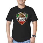 Turkey Bowl Men's Fitted T-Shirt (dark)