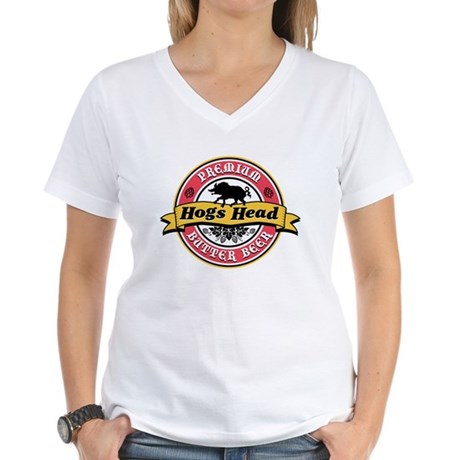 Hogs Head Butter Beer Women's V-Neck T-Shirt