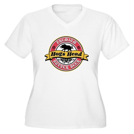 Hogs Head Butter Beer Women's Plus Size V-Neck T-S