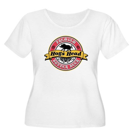 Hogs Head Butter Beer Women's Plus Size Scoop Neck