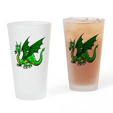 Green Dragon Drinking Glass