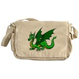 Green Dragon Messenger Bag