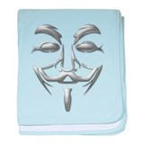Guy Fawkes Mask baby blanket