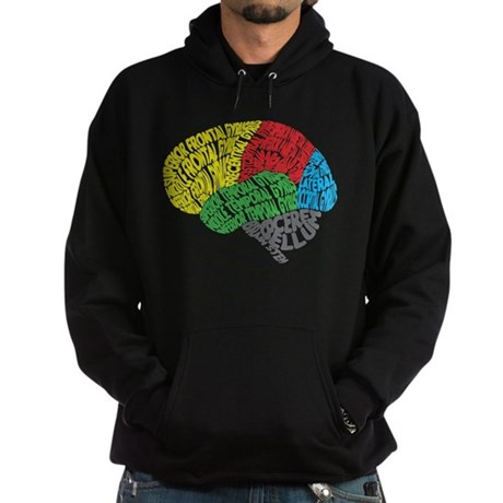 Your Brain (Anatomy) on Words Hoodie (dark)