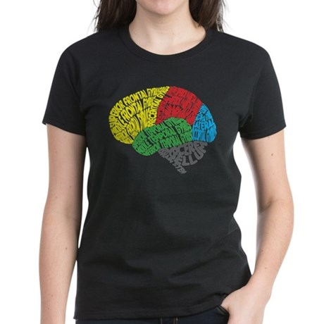 Your Brain (Anatomy) on Words Women's Dark T-Shirt