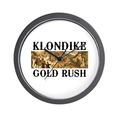 ABH Klondike Gold Rush Wall Clock