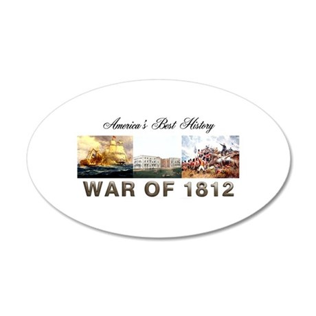 War of 1812 35x21 Oval Wall Decal