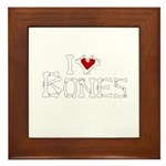 I Love Bones Framed Tile