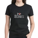 I Love Bones Women's Dark T-Shirt