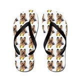 Unique Yorkshire terrier Flip Flops