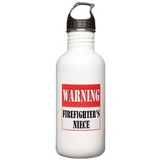 Firefighter Warning-Niece Water Bottle
