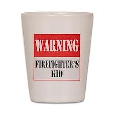 Firefighter Warning-Kid Shot Glass