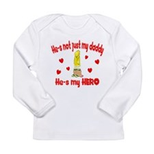 Not just my daddy (hearts) Long Sleeve Infant T-Sh