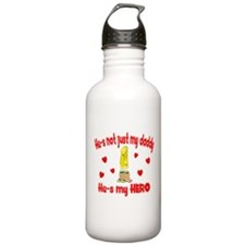 Not just my daddy (hearts) Water Bottle