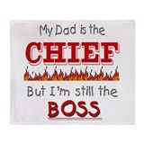 Dad is CHIEF Throw Blanket