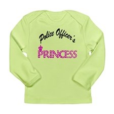 Police Officer's Princess Long Sleeve Infant T-Shi