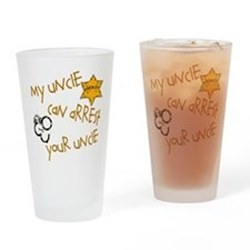 Sheriff-Mine Can Arrest Yours Drinking Glass