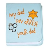 Sheriff-My Dad baby blanket