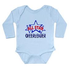 All Star Cheerleader Long Sleeve Infant Bodysuit