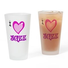 I Love Jazz Drinking Glass