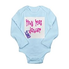 Tiny Toes Dancer Long Sleeve Infant Bodysuit